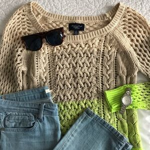 American Eagle Gradient Knit Sweater